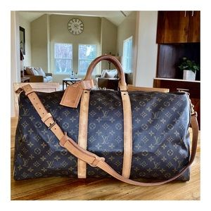 AUTHENTIC LOUIS VUITTON KEEPALL BANDOULIERE 55